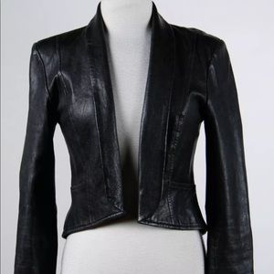 Cropped 100% leather jacket (7 for all Mankind)